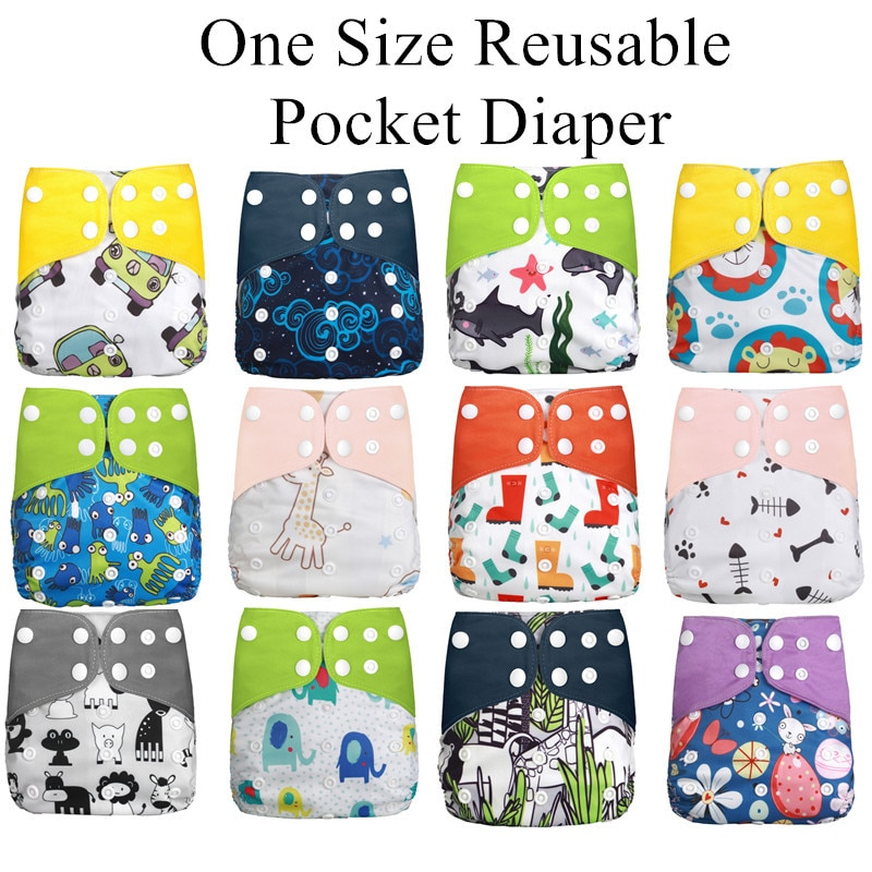 Eco-friendly Baby Diapers Cover Wrap Washable Diapers Couches Lavables Baby Nappy Reusable Nappy Baby Pocket Cloth Diapers fashion cartoon print diaper pocket washable diapers couches lavables baby nappy reusable nappy baby cloth diapers