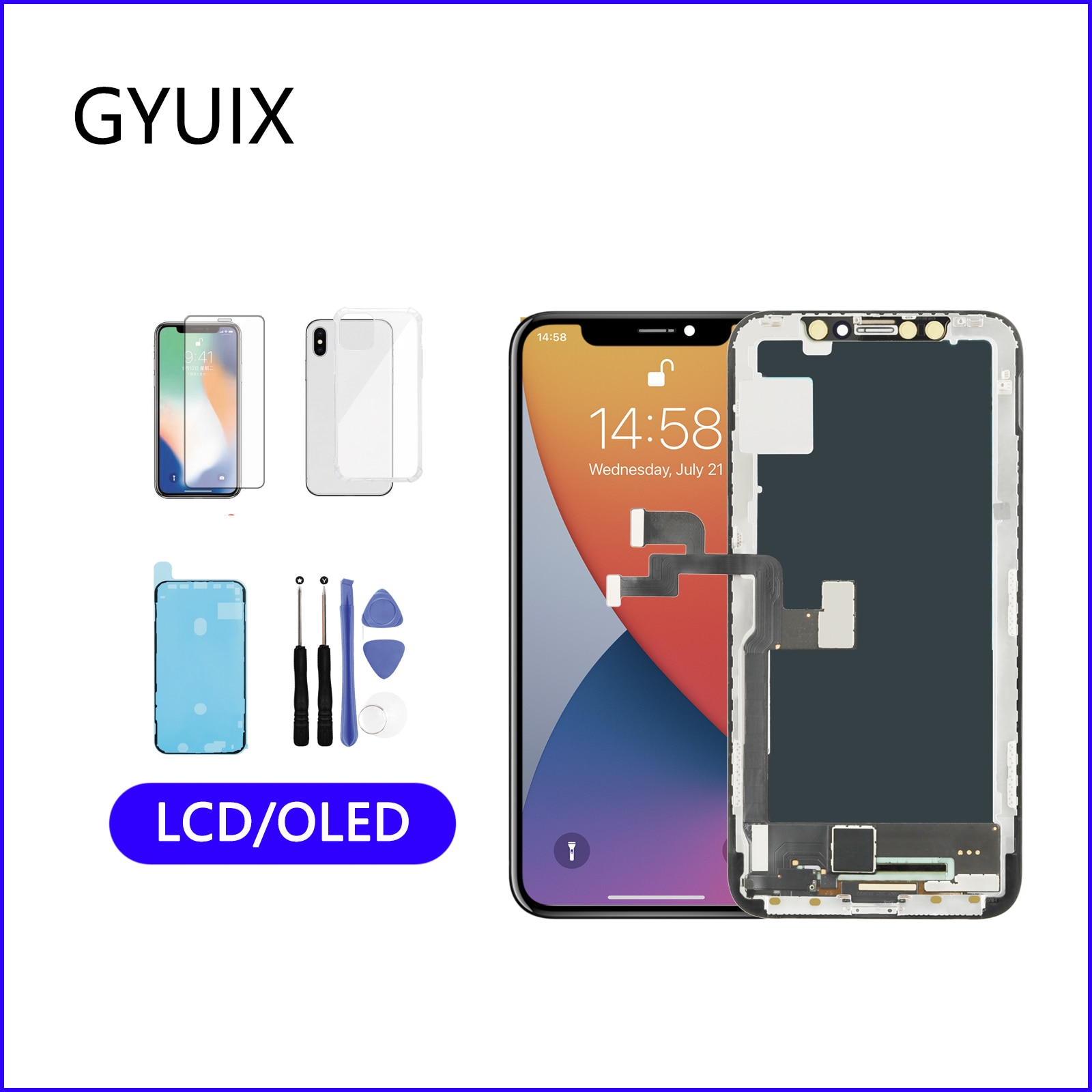 Used To iphone X XS XR iPhone 11 pro max OLED Screen iPhone 11 TFT LCD Screen  Be Used For Replacement the Original Display