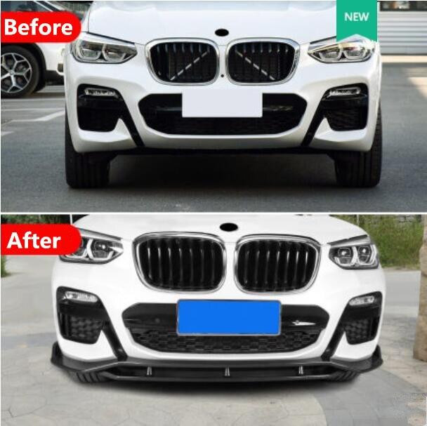 New G01 X3 ABS Paint Car Front Bumper Lip Splitter Diffuser Lip Spoiler For BMW X3 X3M G01 2018 2019 2020