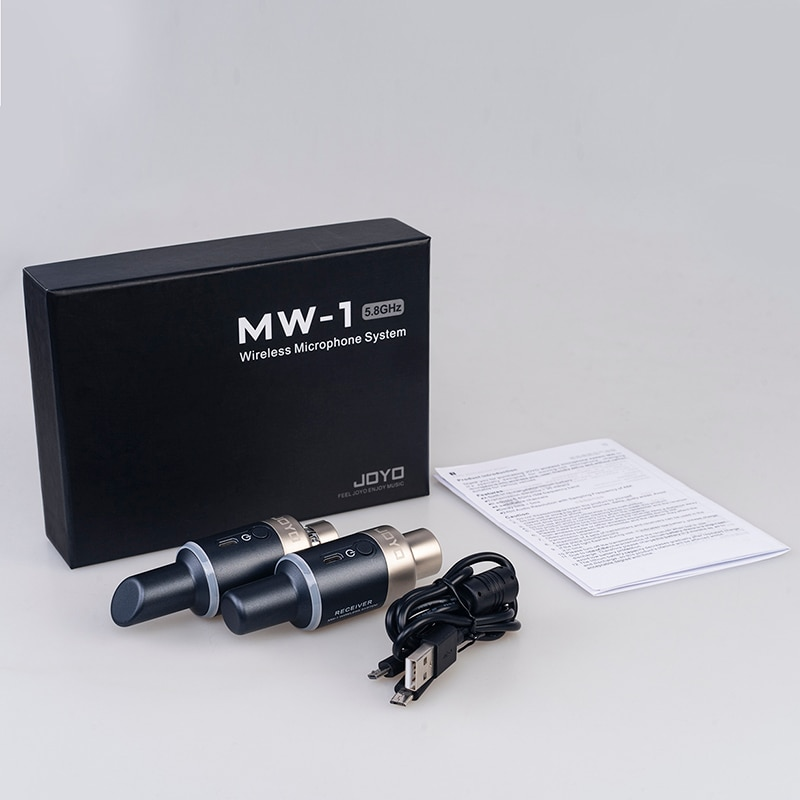 JOYO MW-1 5.8GHz Wireless Microphone System Plug-on Rechargeable Wireless Transmitter Receiver For Effect Dynamic Microphone enlarge