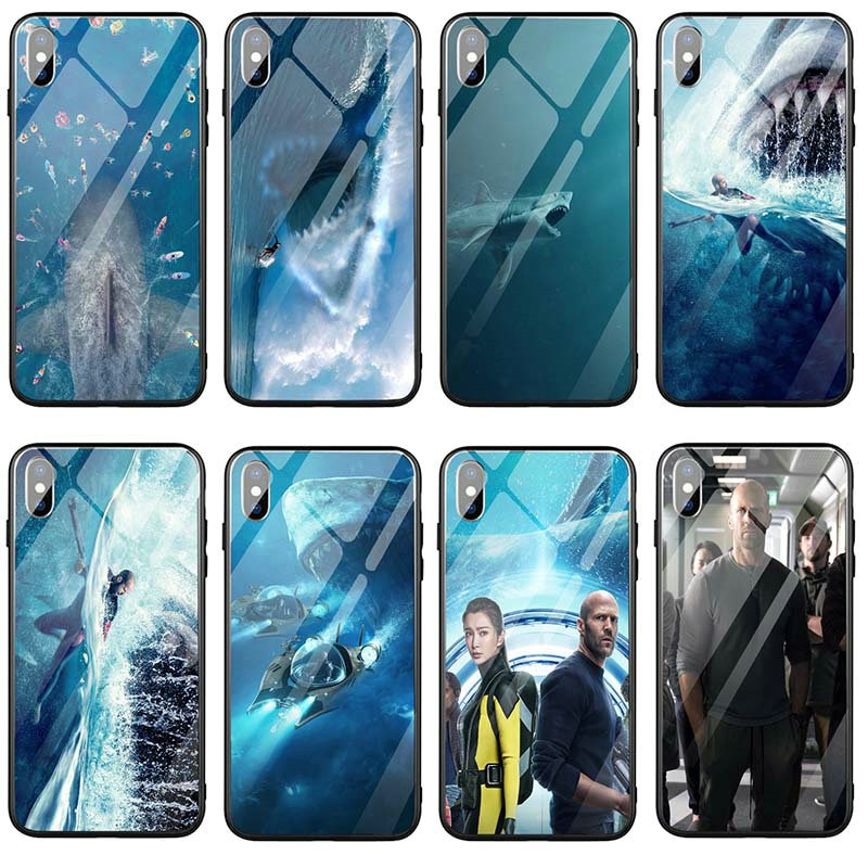 Funda de teléfono móvil de vidrio templado para iPhone X XR XS 11 Pro Max 10 8 7 Plus 5 5S SE 6 6S Plus, bolsas, el moscada 2018