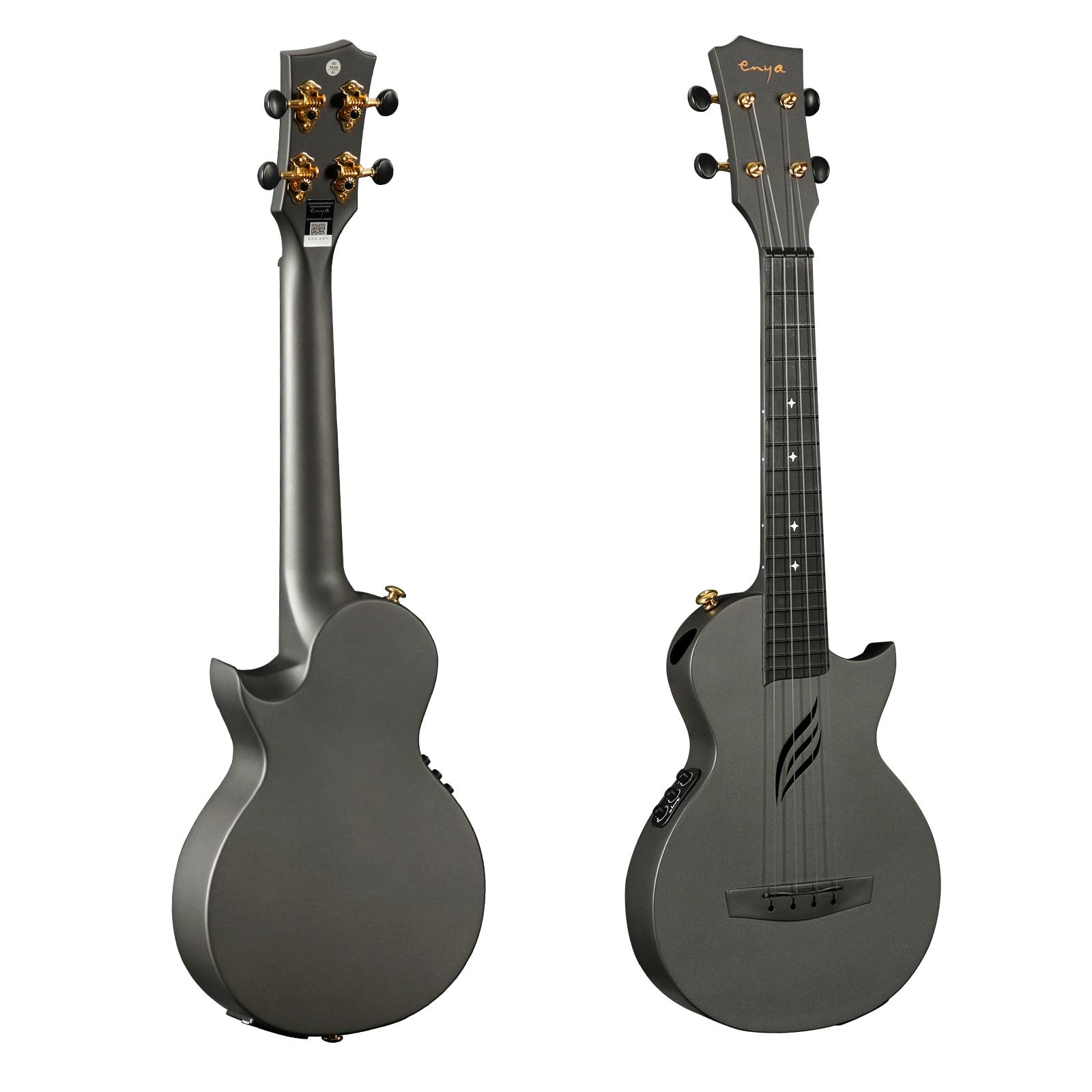 Enya Ukulele Concert NOVA U Carbon Fiber Electric Music Instrument Ukelele Kit Hawaii Mini Guitar with Pickup Case Strap Capo enlarge