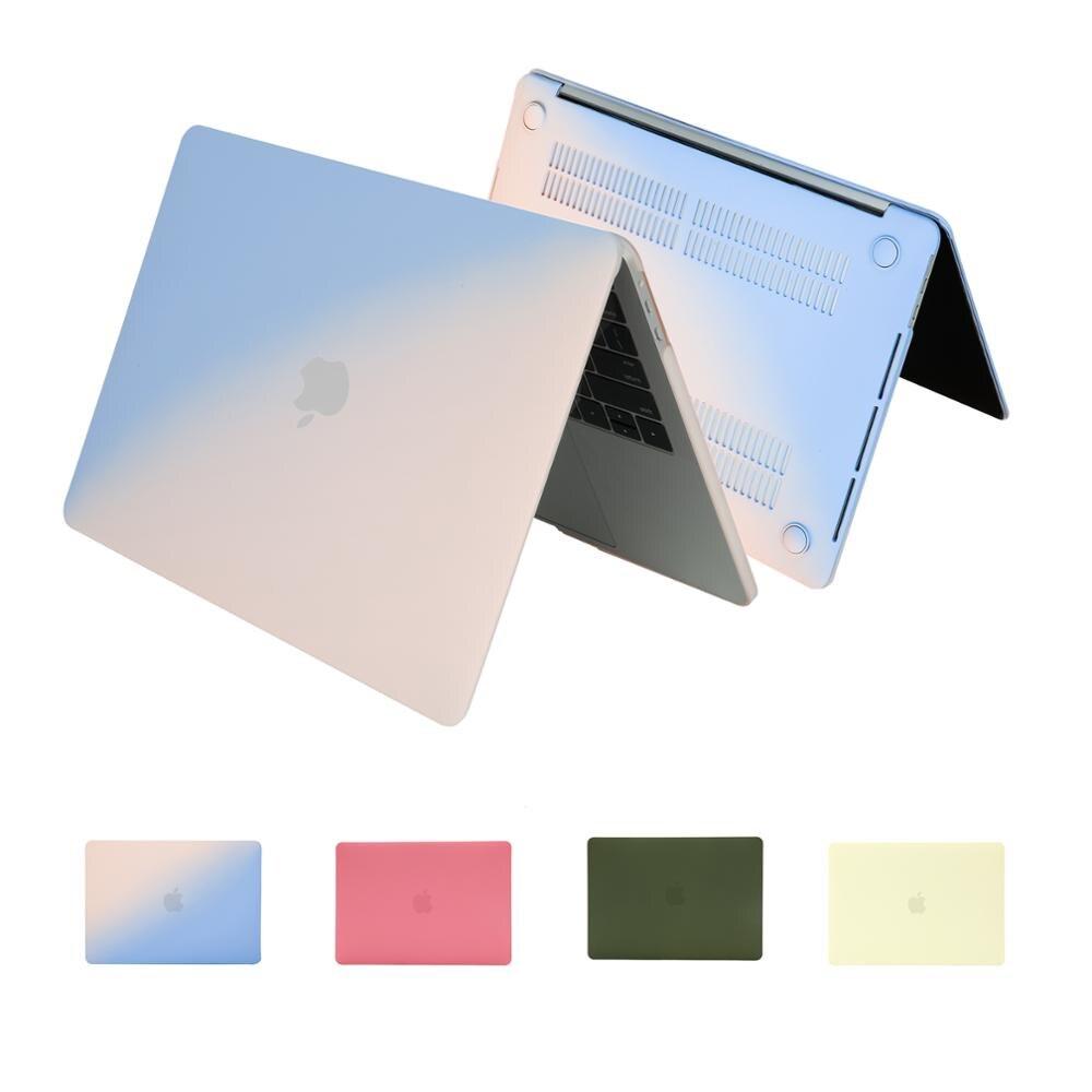 Nuevo color mate funda dura para ordenador portátil para Macbook Pro retina Air 13 A1466 12 11,6 pulgadas funda para 2019 nuevo pro 13 A2159 touch ID A1932