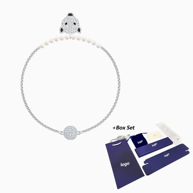 2020 SWA new POLAR BESTIARY bracelet winter shape polar bear head crystal magnetic buckle bracelet female fashion romantic gift