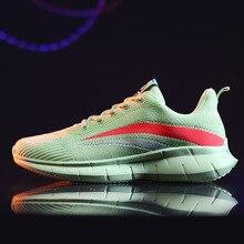 Lightweight running Knitting Sock Sneakers men Spring Summer Slip On Flat Shoes men Plus Size Loafer