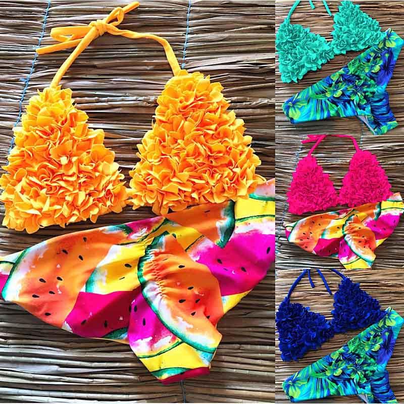 2020 Women Print Bikini Set Push Up Swimwear Brazil Biquni Sexy Tropical Beachwear Swimsuit New Bathing