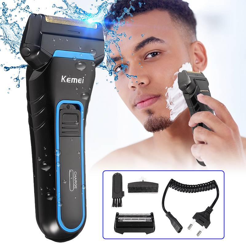 Men Electric Shavers Razor 2 Blades Dual Foil Shaver Rechargeable Beard Razor Trimmer Portable Cutter Machine for Shaving