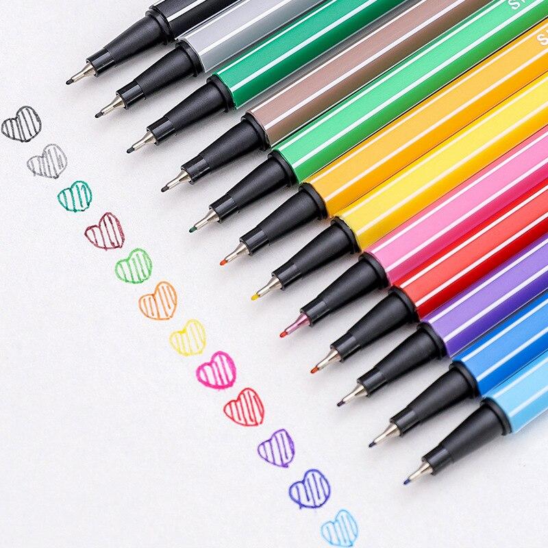 Marcador Multicolor, papelería para niños, suministros de arte Manga, accesorios escolares de dibujo de Colores, lápiz de color de 0,4mm micras, Fineliner