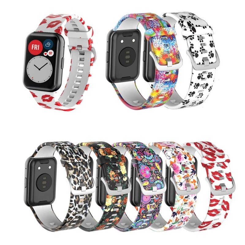 Pulseira de Silicone Macio à Prova Pulseira de Pulso Para-huawei Relógio Ajuste Relógios Inteligentes Esporte Dwaterproof Água Acessórios