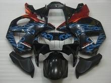 for Honda Cbr954RR 2002 Bodywork CBR 954RR 2002 Black Blue Flame Abs Fairing CBR 954 RR 2002 - 2003 Fairing