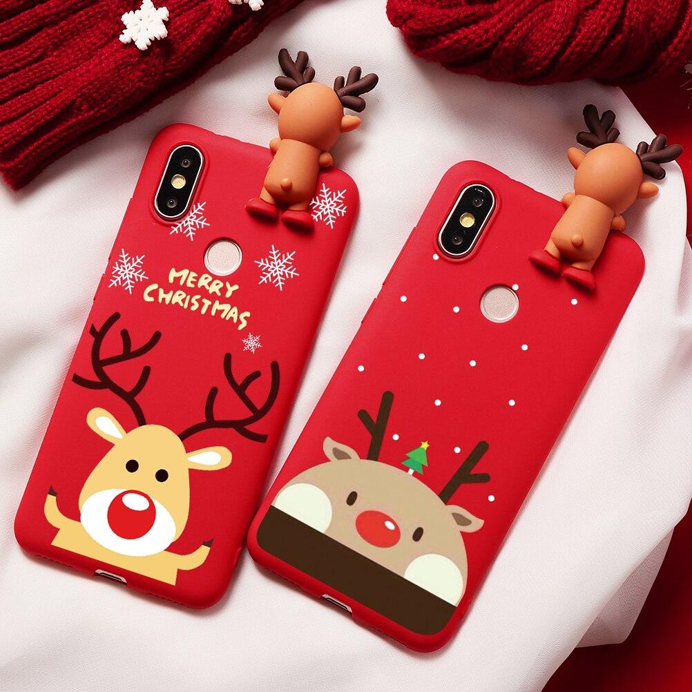 Merry Christmas Deer Print Soft TPU Case For Xiaomi Redmi Mi CC9e CC9 8 9 A2 Lite SE Explorer Note 7 6 5 Pro A1 5X 6X S2 Y2 Case
