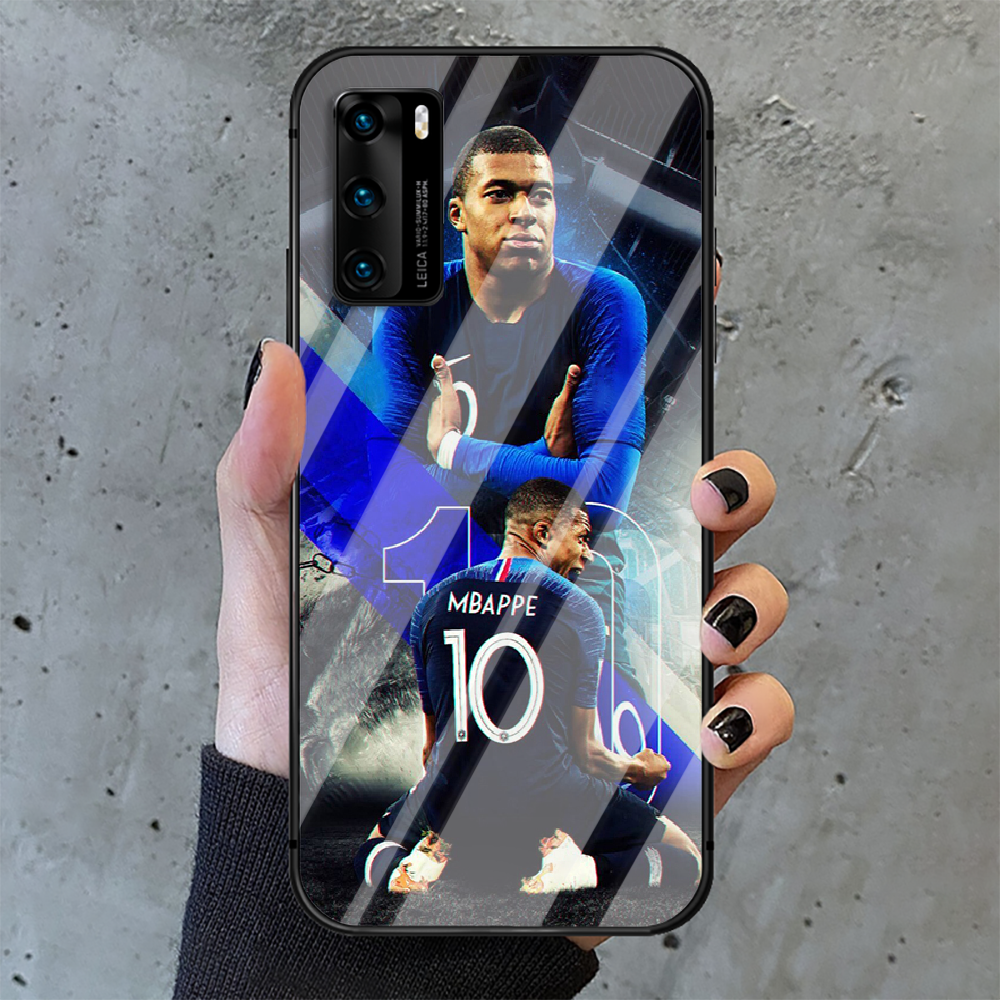 Kylian Mbappe football Phone Tempered Glass Case Cover For Huawei P Nova Mate 5T 20 30 40 E Pro Lite Smart 2019 2021 Shell Back  - buy with discount