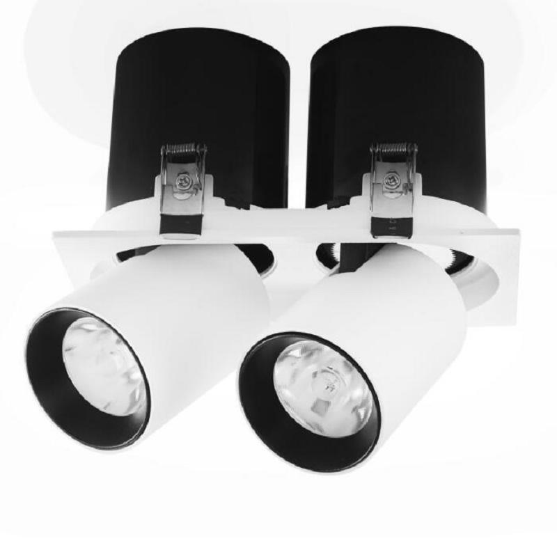 مصباح سقف LED بتقنية COB ، مصباح دوار 360 درجة ، 20 واط ، 30 واط ، 40 واط ، 50 واط ، 110 فولت ، 220 فولت ، 230 فولت ، 240 فولت