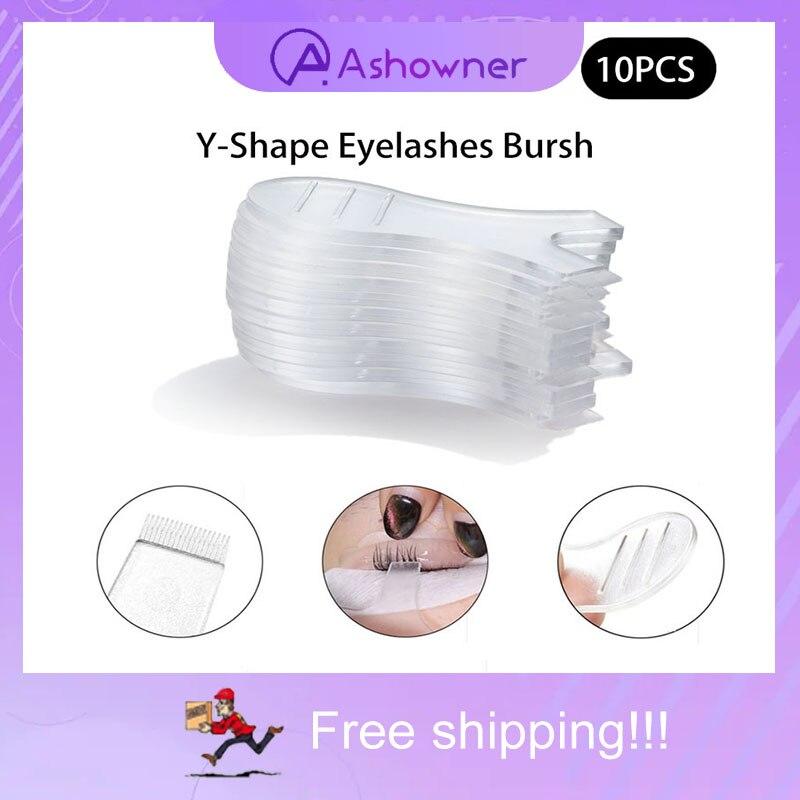 pro eye lash 10pcs Y Shape Silicone Eyelashes Lift Lifting Curler Eye Lash Extension Graft Brush Tool Eye Lash Perming Pad
