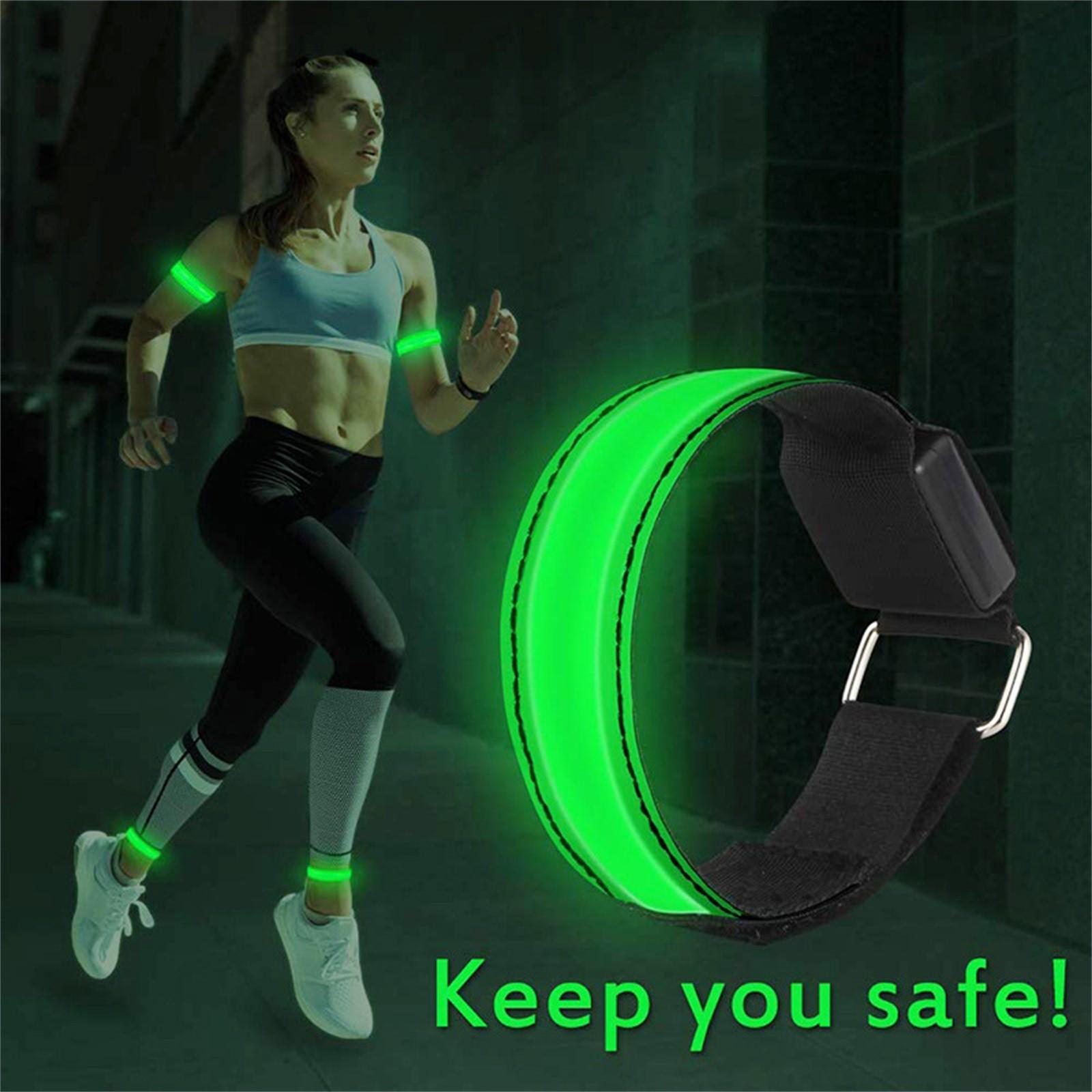 Наручный вспомогательный светодиодный отражающий светильник с повязкой на руку ремень безопасности ремни для ночного бега велосипедный браслет на запястье