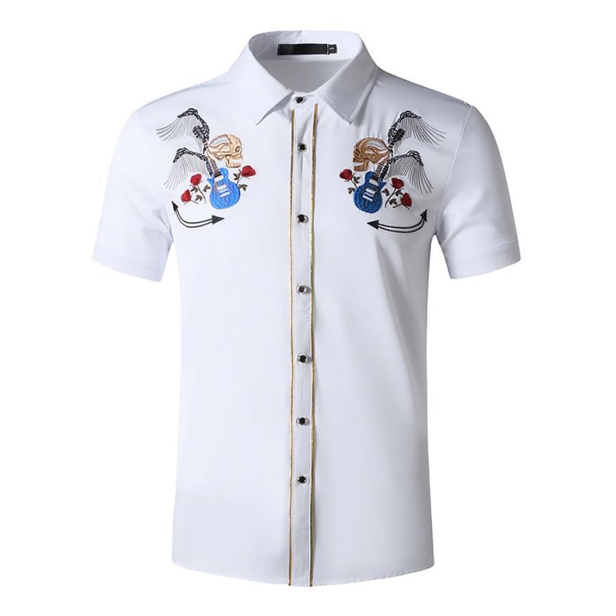 قمصان رجالية غير رسمية بأكمام قصيرة ، قمصان مخططة عصرية جديدة ، ملابس فاخرة للرجال ، ملابس رجالية ، قمصان علوية