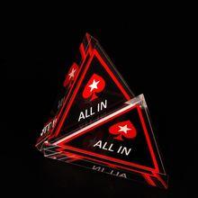 Акриловый техасский холдем покер чип все в треугольнике покер карты охранника казино питания Y4UB