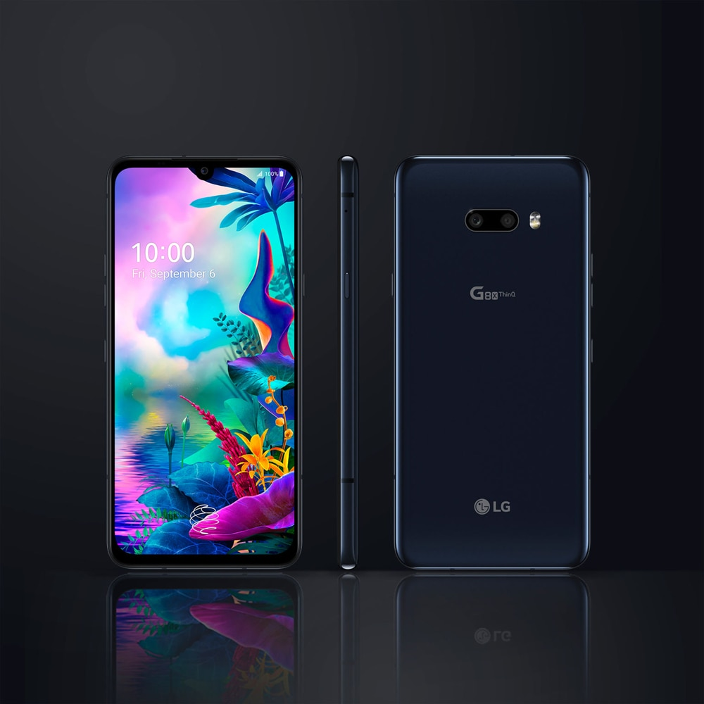 Фото1 - Смартфон LG G8X ThinQ G850EMW G850UM, 2sim-карты и 1SIM-карта, разблокированный мобильный телефон, экран 6,4 дюйма, 6 ГБ ОЗУ 128 Гб ПЗУ, восемь ядер, NFC, 13 МП, 4G LTE, ...