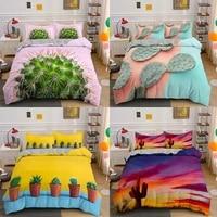 cactus colorful 3d bedding set queen king size plant duvet cover sets bed linen decorative 23 piece gift kids adult luxury