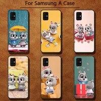 cute couple rabbit phone case for samsung a91 01 10s 11 20 21 31 40 50 70 71 80 a2 core a10