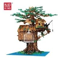 mould king moc building blocks tree house with led light diy model building kits bricks child toy educational christmas gift