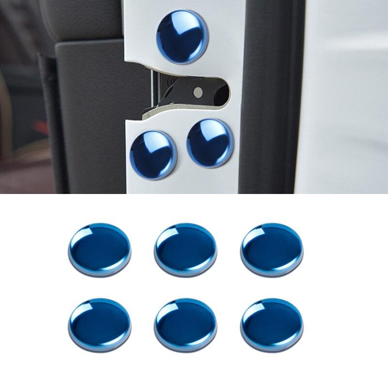 12pçs tampa de protetor de parafuso da fechadura da porta do carro para peugeot 301 308 308s 408 2008 3008 carro acessórios