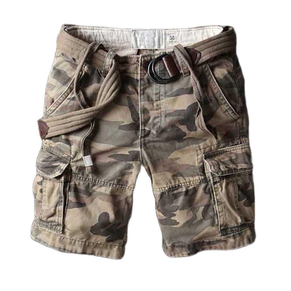 Шорты-карго мужские в стиле милитари, повседневные пляжные, Свободные мешковатые, с карманами, в стиле милитари, летняя одежда