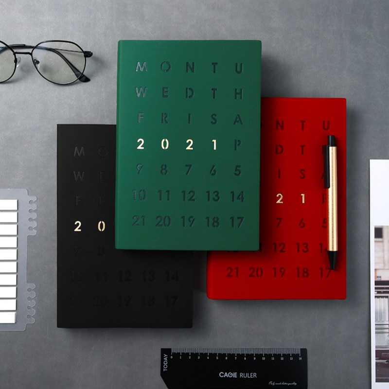 Agenda 2021 Planner Organizer A5 Notebook and Journal Business Diary Notepad Weekly Monthly Note Book with Pen Daily Handbook 2021 planner agenda organizer a5 weekly diary notebook deer journal monthly plan notepad wonderful daily note book stationery