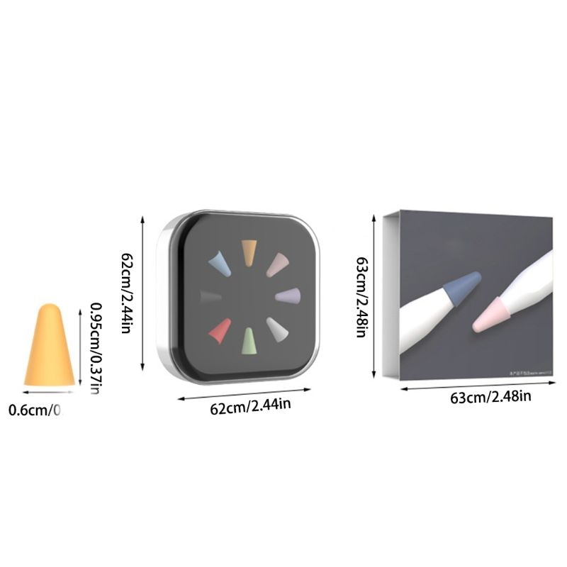 W3JD 8 шт. звука силиконовые жало чехол перо кожного покрова для карандаша от Apple 1st 2nd стилус ручка для тачскрина