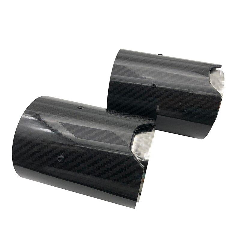 Embout déchappement en Fiber de carbone, pour tube déchappement M Performance M2 F87 M3 F80 M4 F82 F83 M5 F10 M6 F12 F13 X5M X6M
