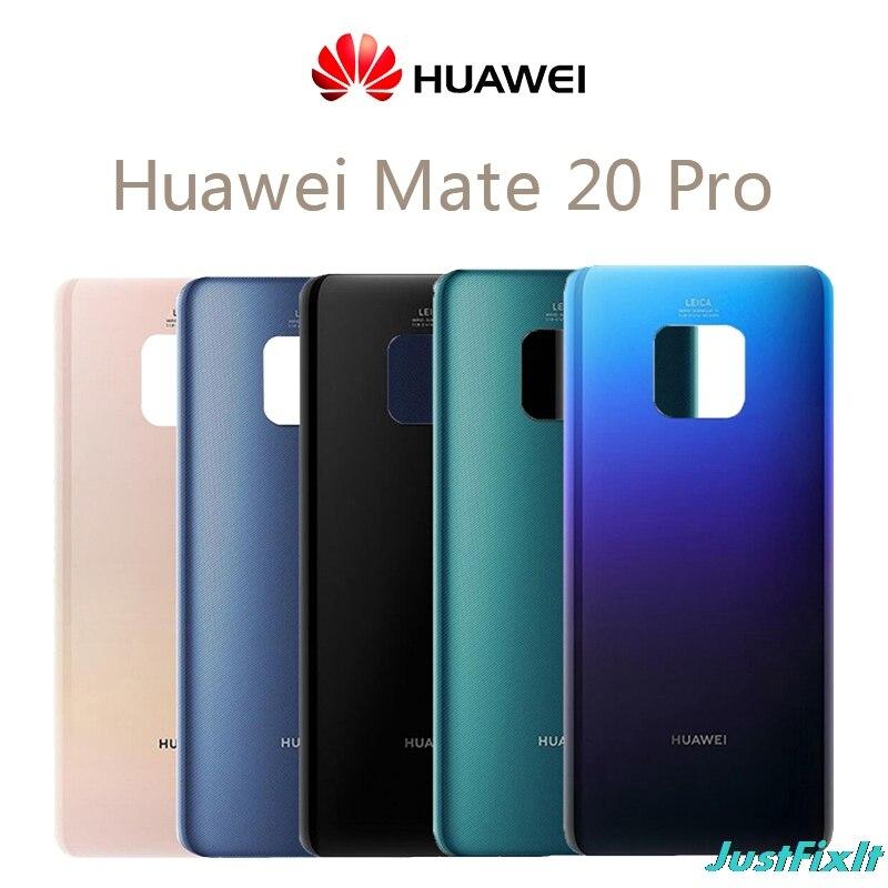 Para Huawei Mate 20 Pro cubierta de batería Mate20 Pro Panel de vidrio trasero para Huawei Mate 20pro carcasa de la puerta trasera