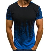 2021spring and summer new mens t shirt round neck loose short sleeved tie dye running sports training t shirt men clothing