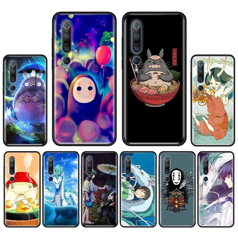 Para Xiaomi Mi 9T A1 A2 9 9SE A2 8 9 Lite Mi 10 jóvenes Nota 10 PocoF2 Pro teléfono caída cubierta Anime Totoro Ghibli espíritu