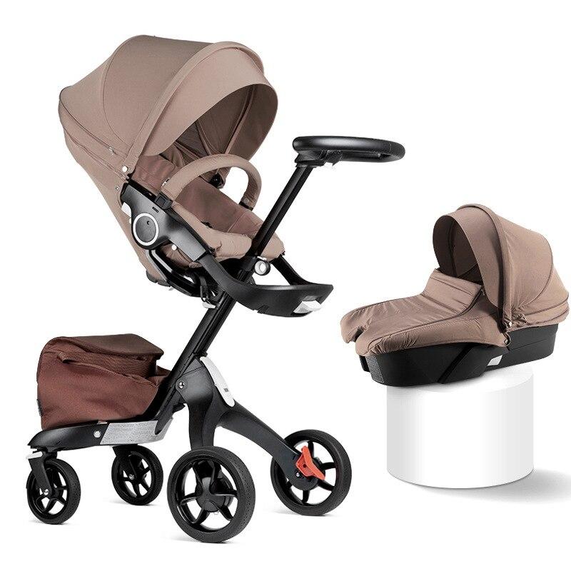 De alta calidad de beb de Alta Vista campo plegable ligero de dos cochecito sentado carrito reclinable mamá caliente se