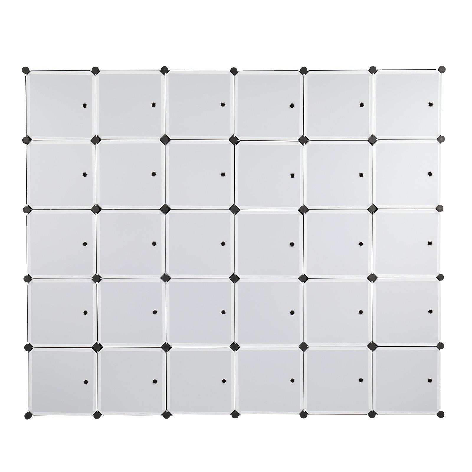 خزائن الحمام 12 مكعب منظم تكويم مكعب بلاستيكي رفوف التخزين تصميم متعدد الوظائف خزانة خزانة وحدات مع قضيب معلق