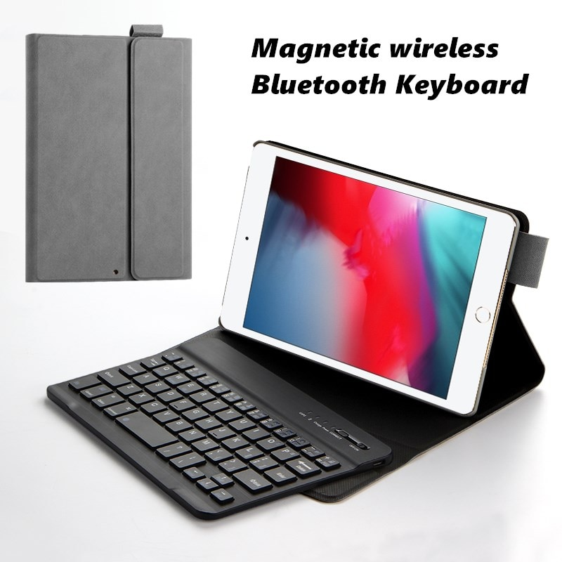 "Funda inteligente para iPad mini 4 mini 5 2019 de 7,9 ""A2133 A2124 A1538 A1550 Tablet Slim carcasa de teclado Bluetooth inalámbrico cubierta para Apple"