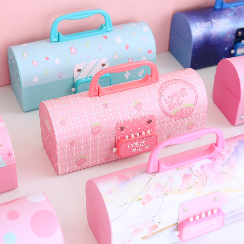 2021 New Creative Pencil Case Multifunction with Password Lock Large Capacity Pencil Case Boy Girl School Stationery Portable