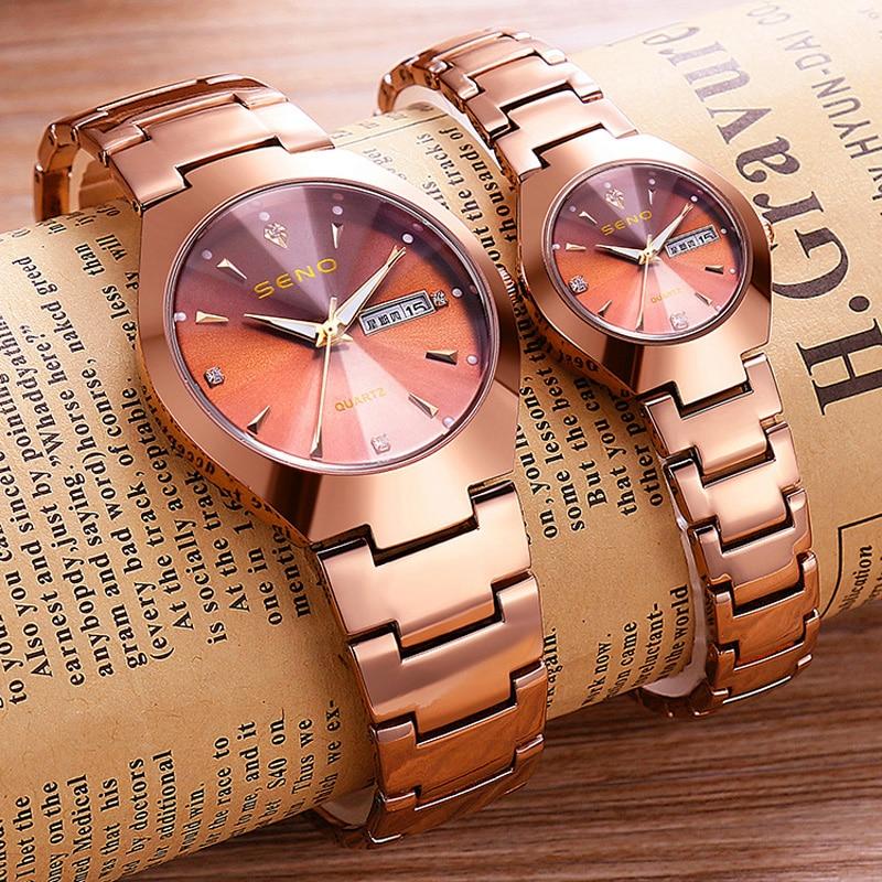 2021 new Couples fashion watches Women brand diamond quartz Waterproof watch Luminous Men's watches for two lovers clocks casual