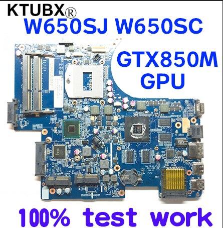 W650SJ W650SC for CLEV0 K650D G150S K610C K590C notebook motherboard 6-71-W65J0-D02 PGA947 GPU GTX850M 2GB 100% test work