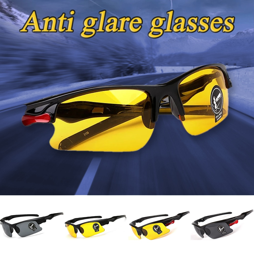 Glasses Night Vision Protective Goggles Drive Sunglasses Car Anti-Glare Glasses Vision UV Drive Safety Eyewear Car Accessories