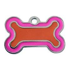 40mm aleación de Zinc forma de hueso mascota ID etiqueta identificación personalizada mascota accesorios perro gato ID Collar COLGANTE