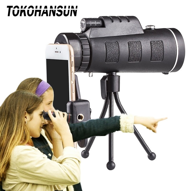 40x60 HD Telescope Mobile Phone Zoom Camera Lens Optical Telescopes Telescopio Monocular Telephoto L
