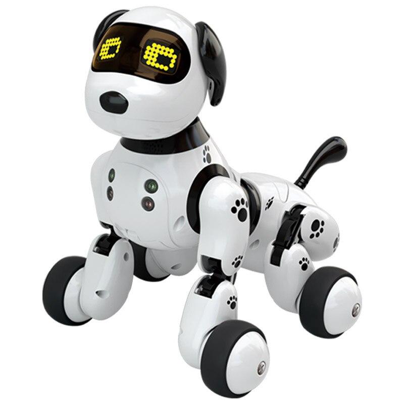 Чип-робот собака Интерактивная собака электронные игрушки с дистанционным управлением умный робот собака маленькие живые питомцы Робот ще...