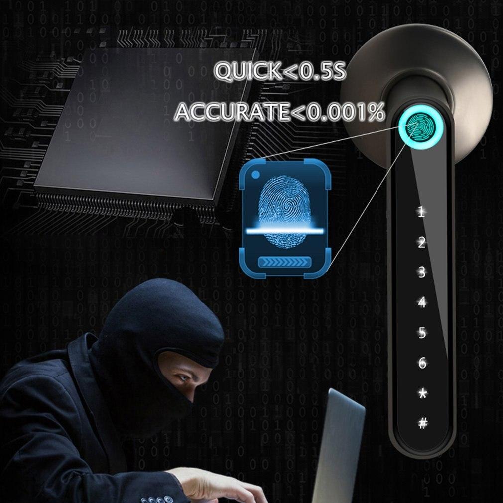 كروية قفل ذكي نظام قفل الباب ببصمة الإصبع قفل الذكية اللاسلكية كلمة السر مقبض قفل التطبيق فتح دخول بدون مفتاح