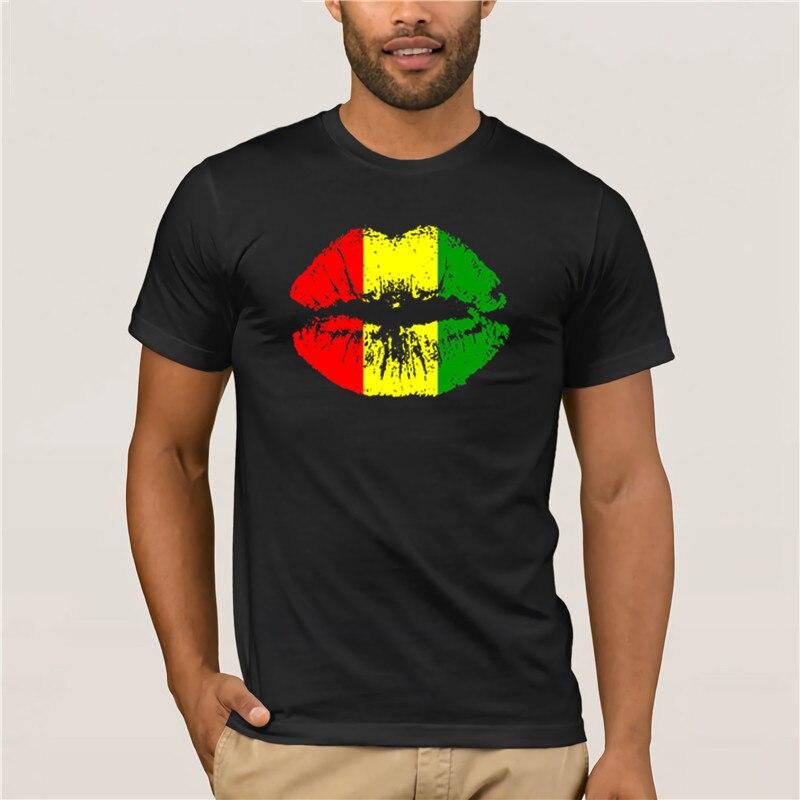 Nueva moda Reggae Rasta Lip Camisetas para hombre de manga corta de algodón de talla europea para hombre Camiseta Camisetas casuales femeninas