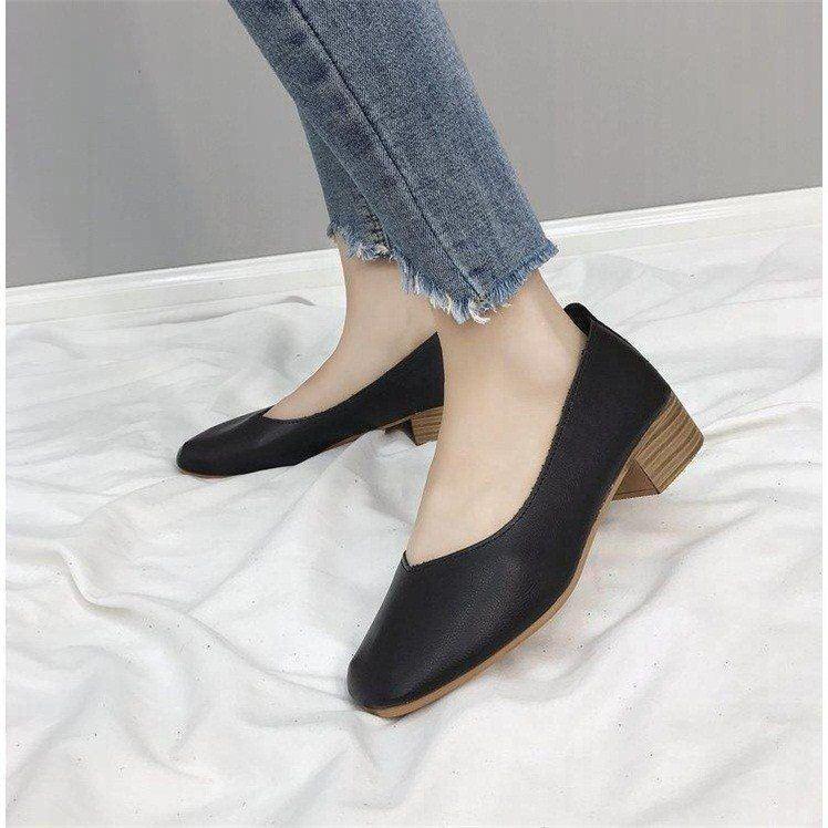 Zapatos de abuela retro de boca superficial, zapatos de mujer planos, transpirables, cómodos, de fondo suave, casuales, a la moda y con temperamento