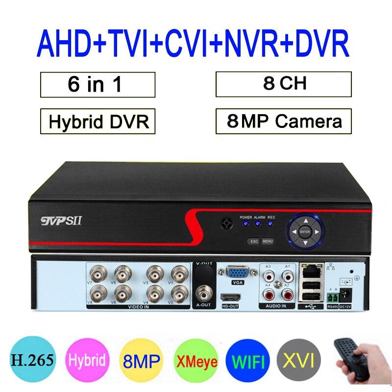 Xmeye-Panel rojo Hi3531D de 8 canales, 8MP, 4K, H.265 + WIFI, Coaxial...