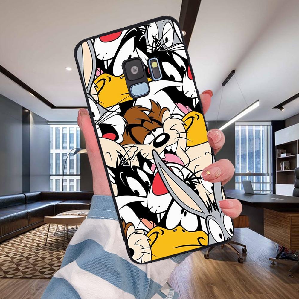 Мультфильм кролик волк для samsung Galaxy S6 S7 край S8 S9 S10 Plus Note 8, 9, 10, A30 A40 A50 A60 A70 M10 M20 чехол для телефона