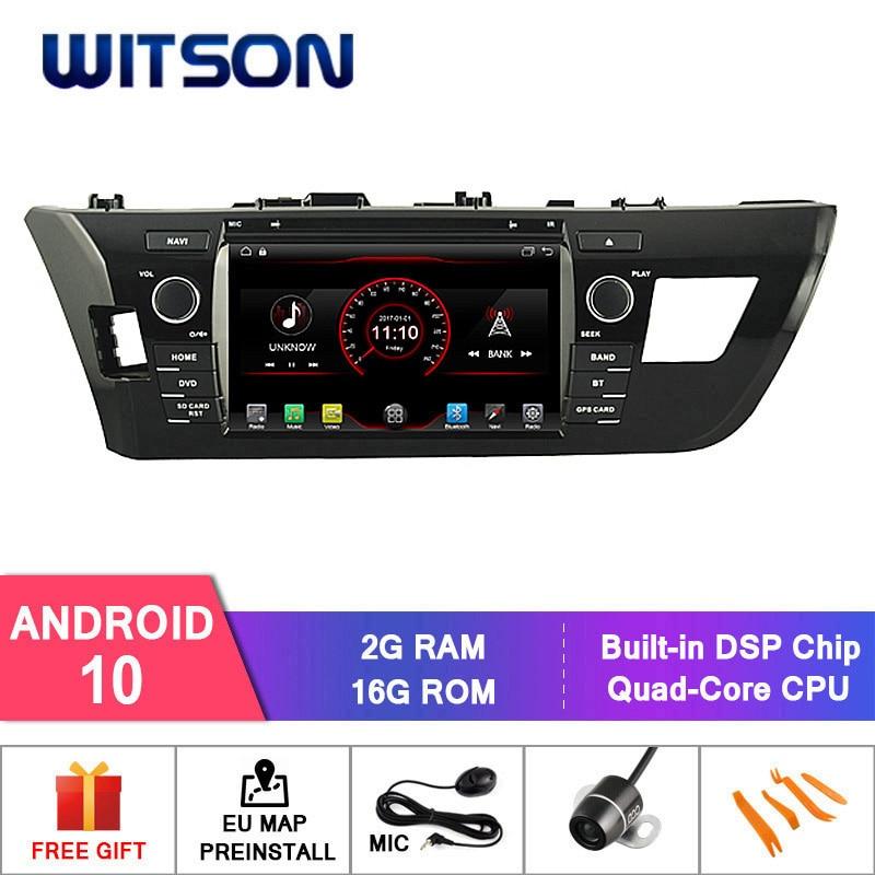 Witson android 9.1 rádio automático dvd gps para toyota corolla/levin 2014 carro dvd player link/dab/obd/tpms/dvr/wifi/3g/4g apoio