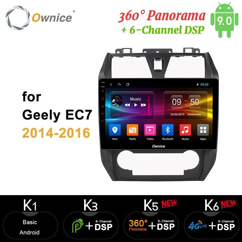 Ownice carplay Android9 Octa Core 4GB + 64GB reproductor de DVD del coche 360 Panorama DSP óptica SPDIF GPS Radio para Geely EC7 2014 de 2015 a 2016